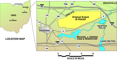 location map of Ravenna